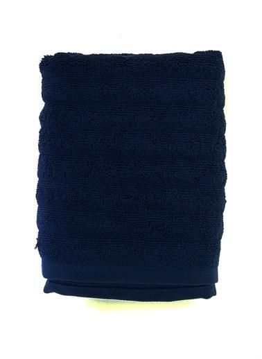 Boyner Evde Boyner Evde Şerit Rölyefli 50X90 cm Mavi Yüz Havlusu Mavi